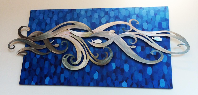 waterjet cut stainless artwork